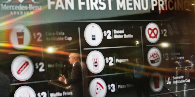 Atlanta Falcons' Food Menu Bucks Trend To Offer Cheaper ...