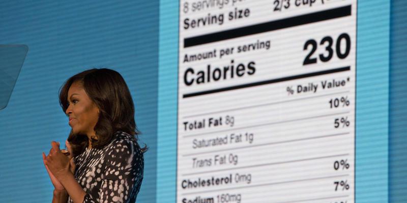michelle obama food labels