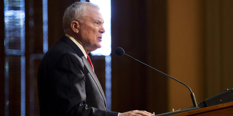 Georgia Gov. Nathan Deal delivers his State of the State address on the House floor at the Capitol, Wednesday, Jan. 13, 2016, in Atlanta.