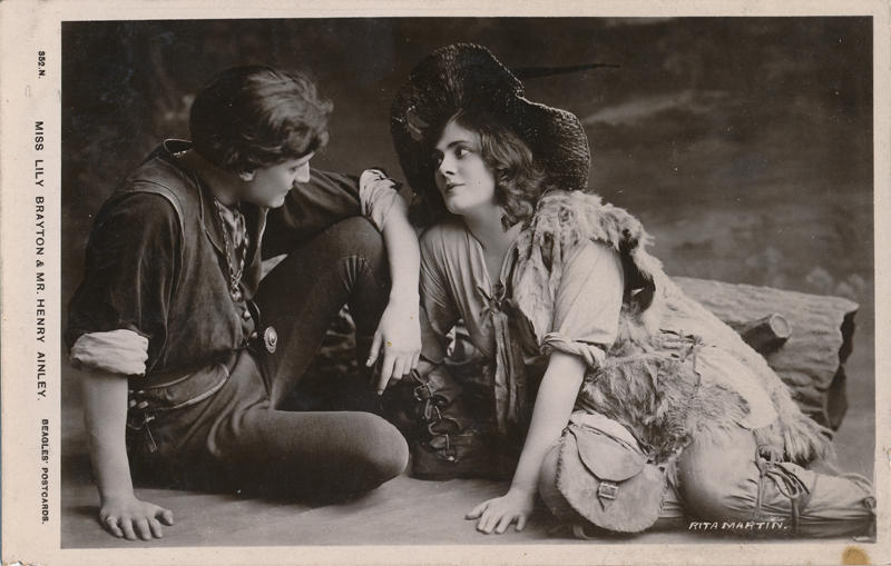 A newly redesigned online archive explores Shakespeare's role in early 20th century theatre. Pictured here is Lily Brayton and Henry Ainley in ''As You Like It.''