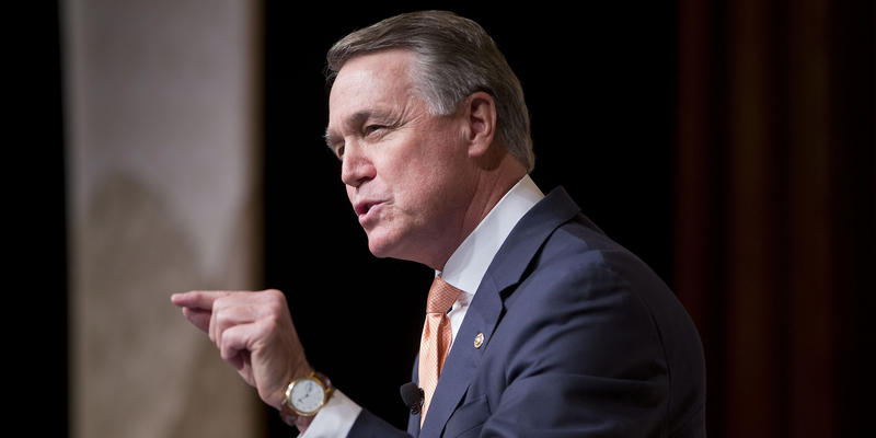 Sen. David Perdue, R-Ga., speaks during the Road to Majority 2015 convention in Washington, Friday, June 19, 2015.
