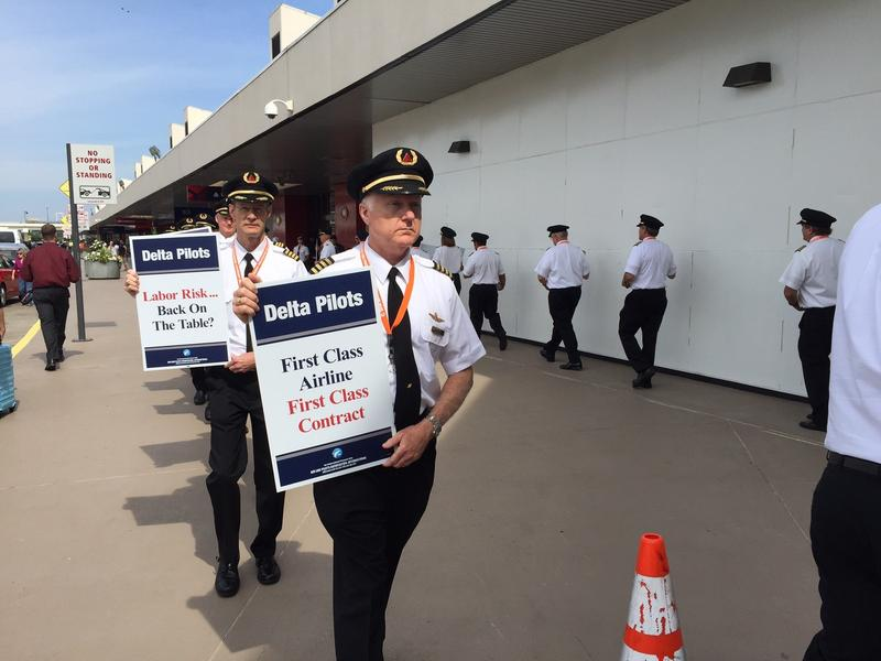 Delta Air Lines reached an agreement in principle on Friday with the Air Line Pilots Union, which represents Delta Air Lines pilots. Off-duty pilots picketed at Hartsfield-Jackson Atlanta International Airport in June calling for higher pay.