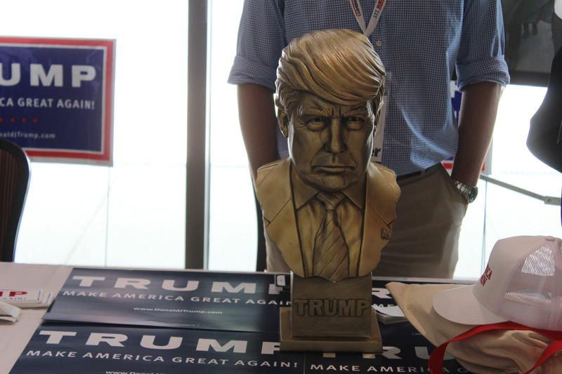 A bust of Donald Trump at the Georgia Republican Party convention in Augusta.