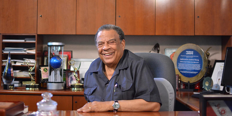 Andrew Young recalls events surrounding the 1996 Olympics in Atlanta.