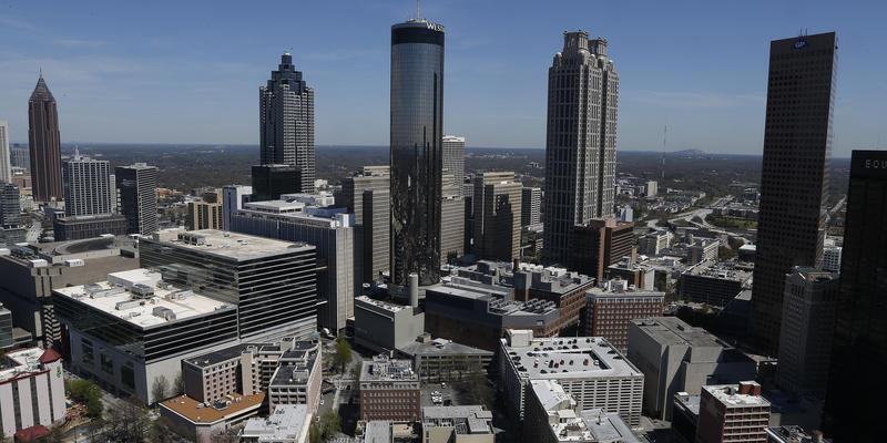 The Atlanta skyline is shown March 31, 2014, in Atlanta.