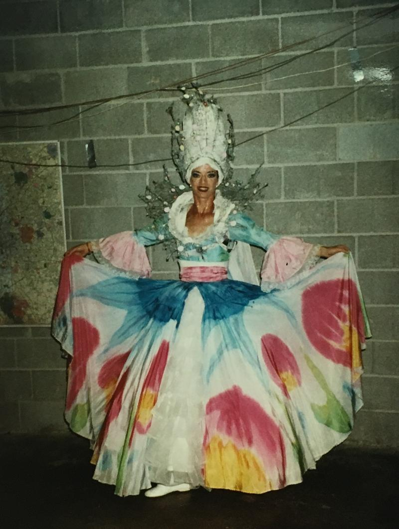 Lee Harper in her full outfit.