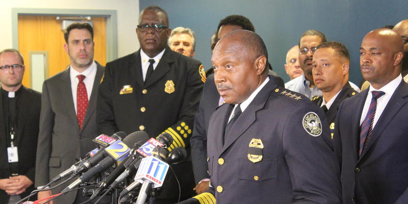 Atlanta Police Chief Georgia Turner speaks to media after an attack on police officers in Dallas.
