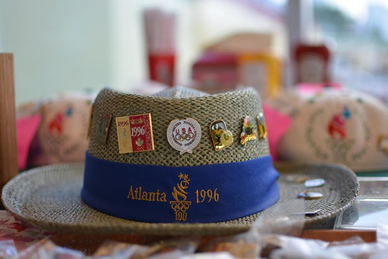 Pin collectors and traders of Atlanta regularly gather at the Varsity on the third Wednesday of each month to swap pins and talk Olympics.