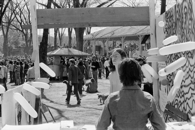 Boyd Lewis also captured an often forgotten time in Midtown's history. Once, it was the center of Atlanta's counter-culture movement. Pictured here is a festival called the People's Fair in Piedmont Park.