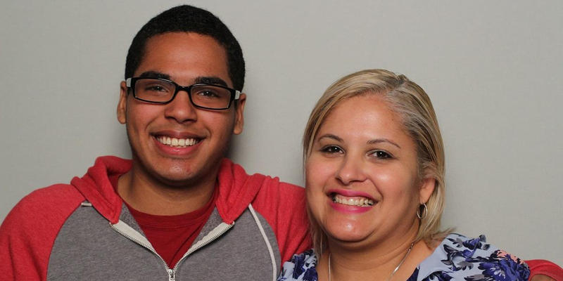 Juan Jose Morales Roman and his mother, Emilia Roman-Torres, talked in the StoryCorps Atlanta booth.