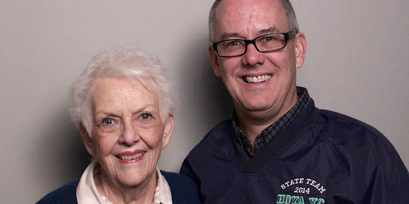 Nancy and Kent Simmons talked with each other in the StoryCorps Atlanta booth.