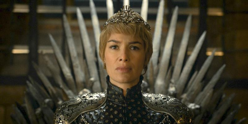 """In this image released by HBO, Lena Headey appears in a scene from """"Game of Thrones."""" """"Game of Thrones"""" and """"Veep"""" are among the top contenders for the 68th prime-time Emmy Award nominations."""