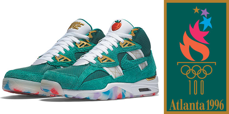 New Nike Air Trainer SC High ATL shoes commemorate the 1996 Olympic Games.