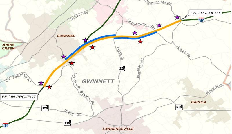 GDOT is adding 10 more miles of toll lanes North and Southbound between Old Peachtree and Hamilton Mill Road on Interstate 85.