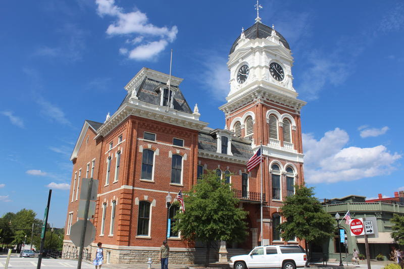 The historic Covington courthouse in Newton County.