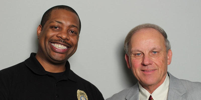 Jason Josey and Michael Hendon interviewed each other in the StoryCorps Atlanta booth.
