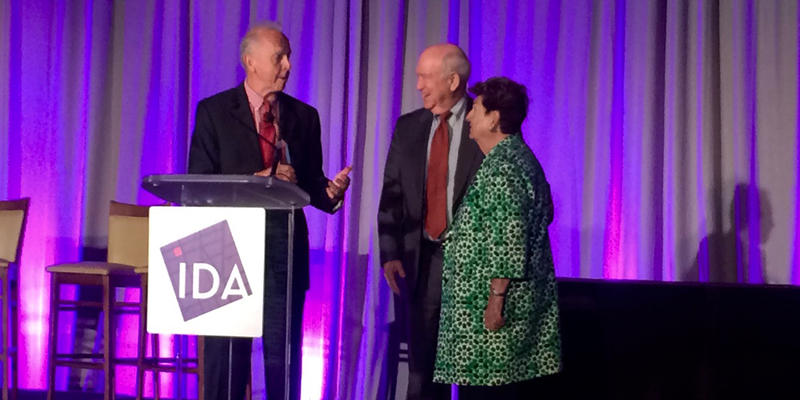 Richard Bradley, president of the International Development Association in the 1980s, was recently presented with the IDA's Dan Sweat Lifetime Achievement Award.