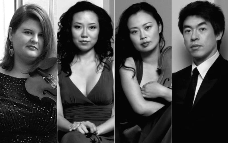 The Vega Quartet has a new member: from left to right, Elizabeth Fayette, Jessica Shuang Wu, Yinzi Kong and Guang Wang.