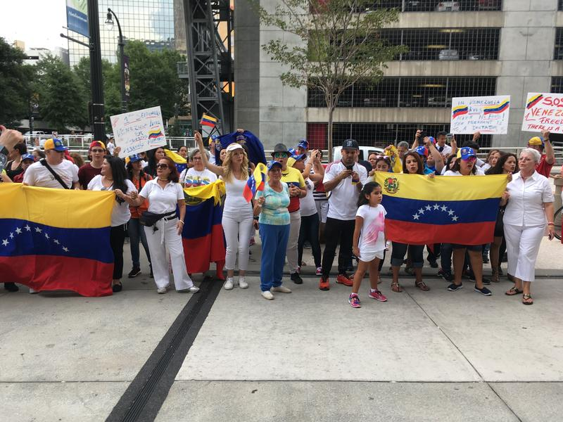 Venezuelan-Americans living in the Atlanta area joined international protests against the socialist government last fall.