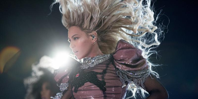 Beyonce performs during the Formation World Tour at NRG Stadium on Thursday, Sept. 22, 2016, in Houston.