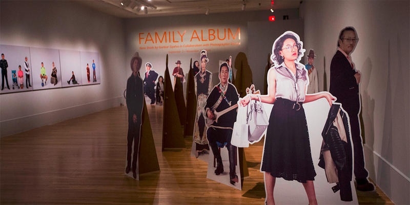 ''Family Album'' features photographs and life-size cutouts of his family members.