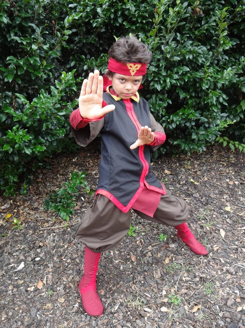 Jackson poses as Aang from ''Avatar: The Last Airbender.''