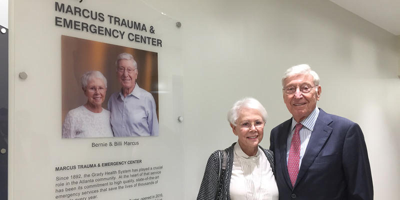 Grady Hospital dedicated the Marcus Trauma and Emergency Center on Oct. 5 in recognition of philanthropy of Billi and Bernie Marcus, a co-founder of the Home Depot.