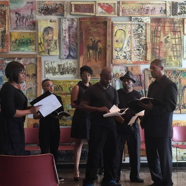 Actors perform a reading at last year's Atlanta Black Theatre Festival.