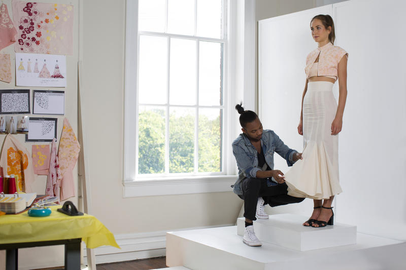 Recent SCAD grad Jeffrey Taylor had the opportunity to show off some of his designs at New York and Paris Fashion Week this fall.