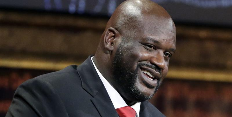 In this Sept. 9, 2016, file photo, basketball Hall of Fame inductee Shaquille O'Neal speaks during induction ceremonies in Springfield, Mass. Krispy Kreme announced on Oct. 24, 2016, that O'Neal is now a part-owner of one of the company's locations in Atl