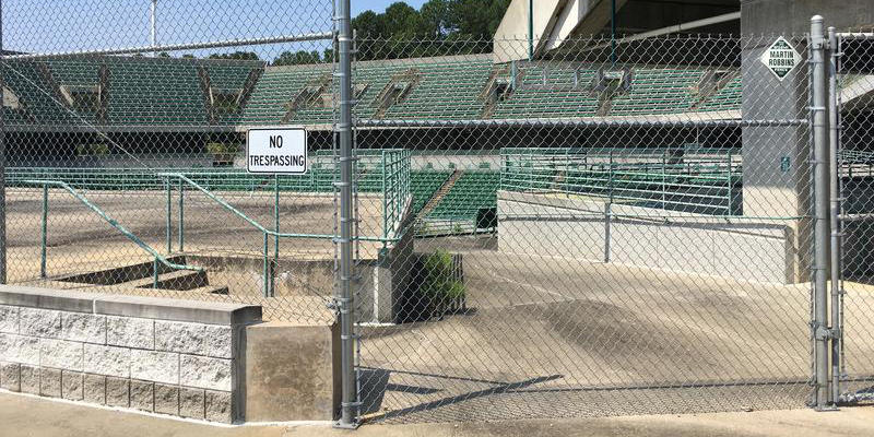 The 1996 Olympic Tennis Stadium may be demolished as part of a new land swap deal to redevelop the property.