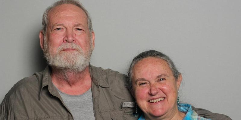 Les and June Garber spoke in the StoryCorps Atlanta booth.