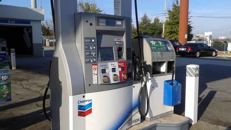 At a Chevron gas station in Midtown Atlanta, gas prices were $2.69 on Thursday, a few days after the Alpharetta-based Colonial Pipeline explosion.