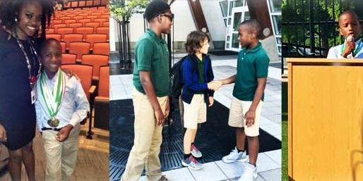 Niles Holt, Student Council President of Drew Charter Elementary School, talks with Rose Scott about his election campaign on Monday's ''Closer Look.''