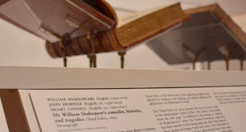 Copies of the first four folios of the plays of William Shakespeare are on display at Emory's Michael C. Carlos Museum.