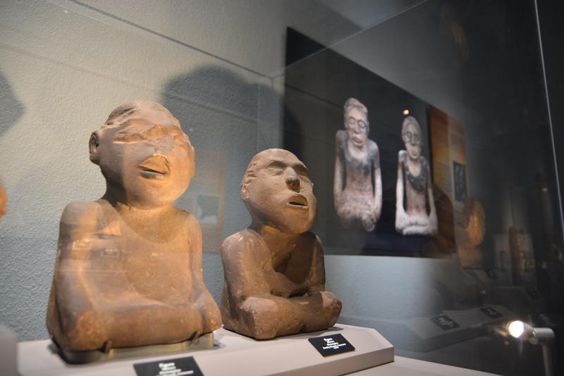 Statues from another settlement that are similar to ones found at Etowah show that people who lived there exchanged ideas and design as well materials.