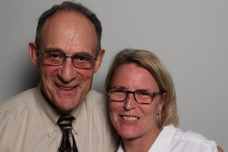 Steve Wolf is seen with colleague, Sarah Blanton, at StoryCorps Atlanta.