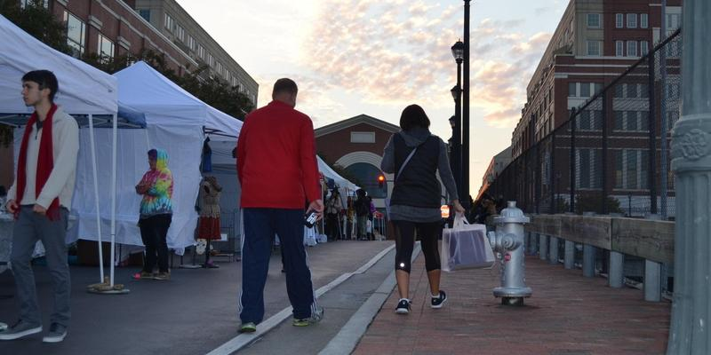 Some people who stopped by Creative Loafing's Crafts & Drafts event at Atlantic Station also visited the mall's stores.
