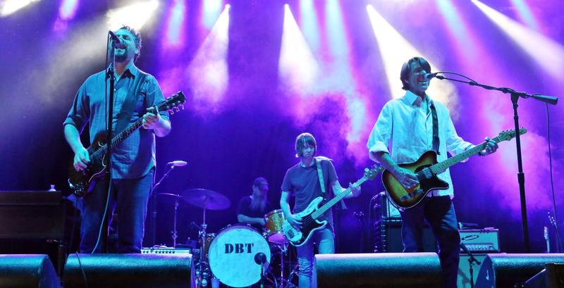 Patterson Hood, Mike Cooley, Brad Morgan, Jay Gonzalez, and Matt Patton with Drive-By Truckers perform at the Candler Park Music and Food Festival on Saturday, May 30, 2015, in Atlanta.