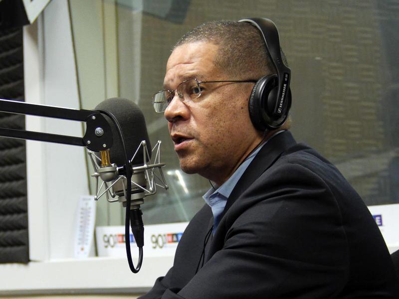 Fulton County Commision Chairman John Eaves in the WABE Atlanta Studio last year.