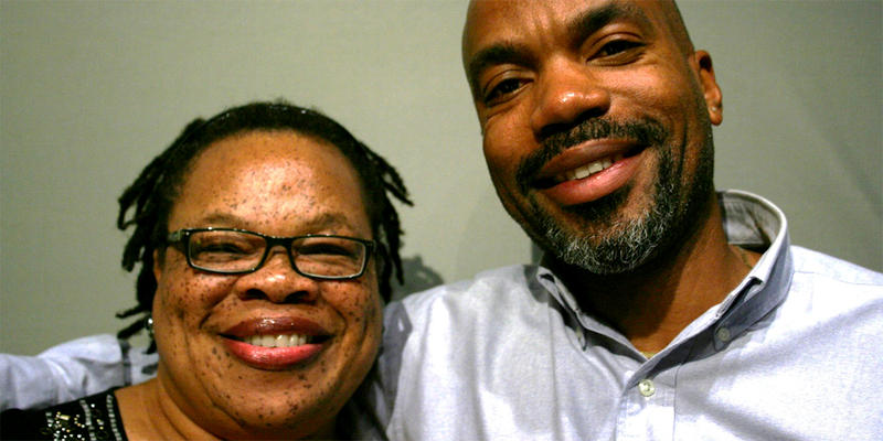 The late Lillie Love and Anthony Knight spoke to each other in the StoryCorps Atlanta booth.