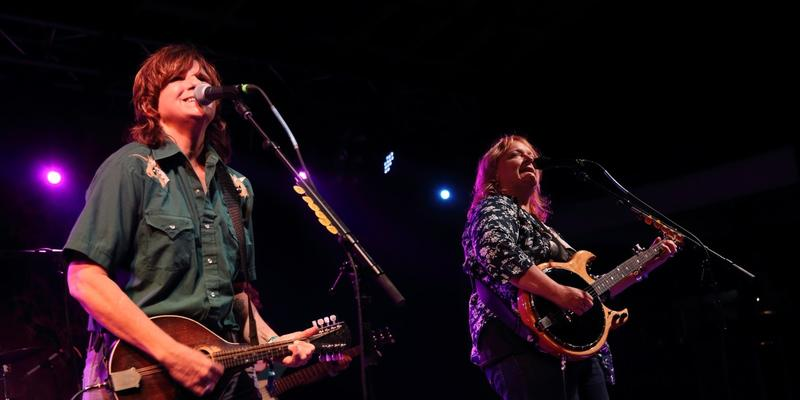 Amy Ray (L) and Emily Saliers and the Indigo Girls perform at Magnolia Fest at the Spirit of Suwannee Music Park in Live Oak Florida on Saturday. October 18, 2014.