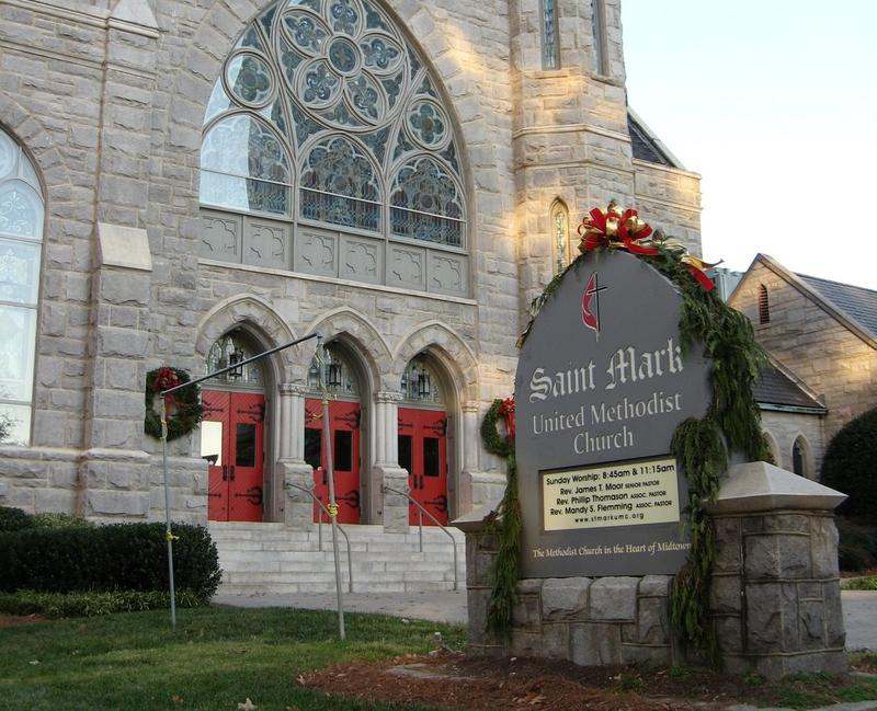 St. Mark United Methodist Church is considering selling property at 5th and Juniper Streets.