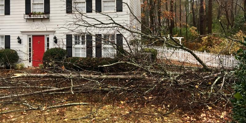Severe storms hit parts of north Georgia on Wednesday, with at least one confirmed tornado.