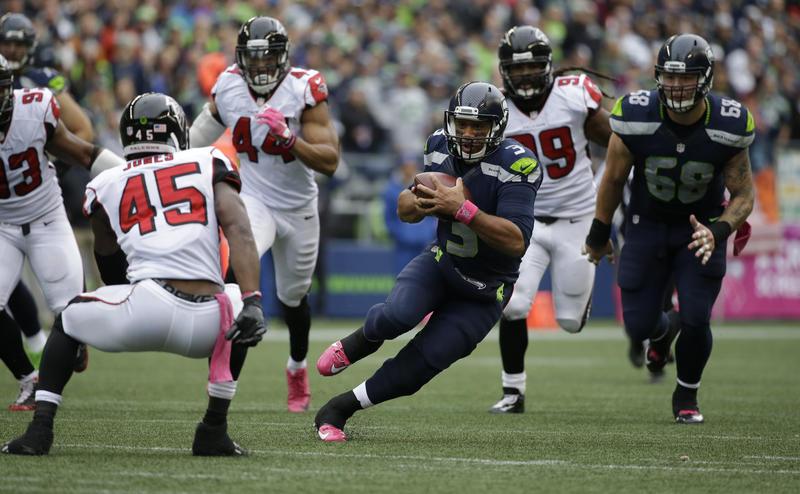 On Saturday, the Atlanta Falcons host the Seattle Seahawks in NFL postseason play.