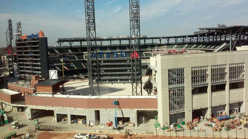 The Atlanta Braves stadium at SunTrust Park is nearly complete. Comcast is the major anchor tenant at the new complex known as The Battery.