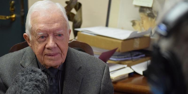 Former President Jimmy Carter speaks with WABE's Denis O'Hayer about his efforts to eradicate Guinea worm disease.