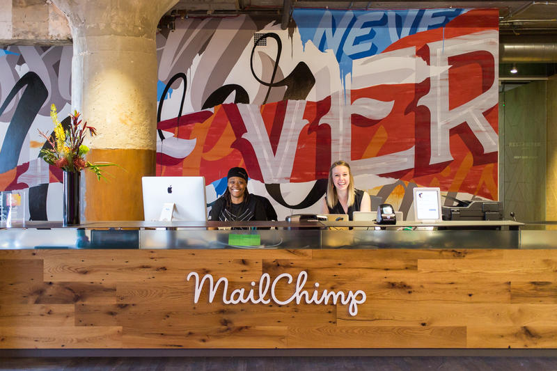MailChimp commissioned local artists to decorate its offices. That's one of dozens of ways it supports nonprofit organizations.