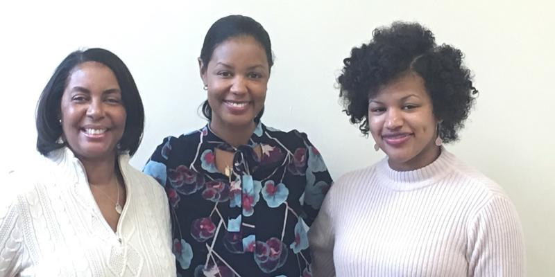 Joye Nettles, Stefanie Espy and Sandy Welfare (left to right) discuss STEM fields on Friday's ''Closer Look.''