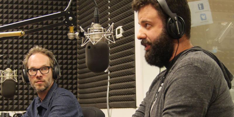 Studio owners Graham Marsh (left) and Ben Allen (right) talk about their opposition to the sound limit ordinance and how the proposed legislation could affect their industry.